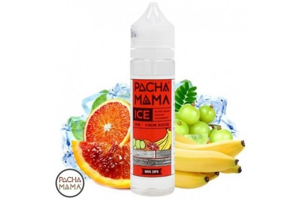 BLOOD ORANGE BANANA GOOSEBERRY 50ML - PACHAMAMA ICE