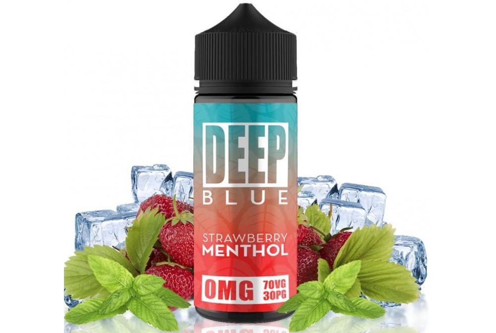 STRAWBERRY MENTHOL 100ML - DEEP BLUE