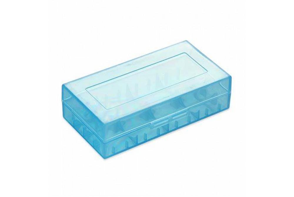 FUNDA DE PLASTICO BLUE BATERIAS 18650